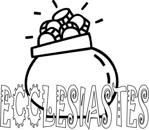 Bible Coloring Pages For Kids Free Printable Books Of The Ecclesiastes