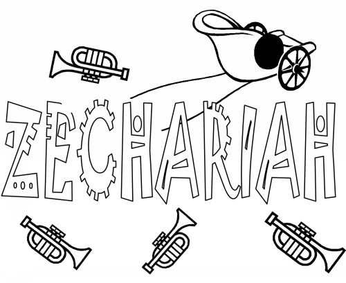 zechariah visions coloring pages - photo#4